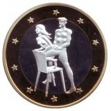6 эросов (Sex euros). Сувенирный жетон. (Вар. 6)