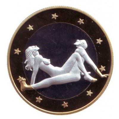 6 эросов (Sex euros). Сувенирный жетон. (Вар. 9)
