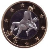 6 эросов (Sex euros). Сувенирный жетон. (Вар. 13)