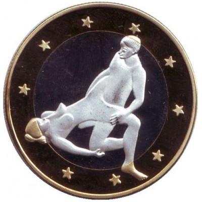 6 эросов (Sex euros). Сувенирный жетон. (Вар. 16)
