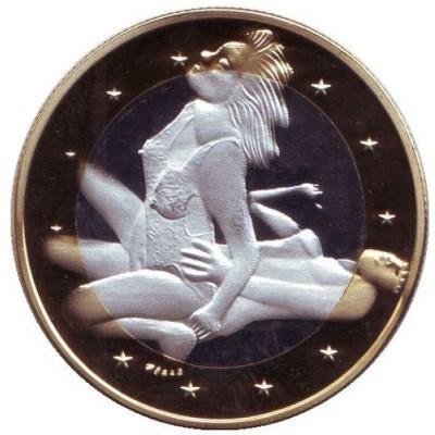 6 эросов (Sex euros). Сувенирный жетон. (Вар. 17)