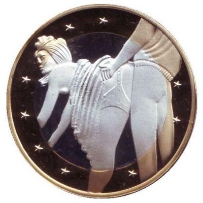 6 эросов (Sex euros). Сувенирный жетон. (Вар. 22)