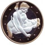 6 эросов (Sex euros). Сувенирный жетон. (Вар. 25)
