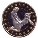 6 эросов (Sex euros). Сувенирный жетон. (Вар. 27)