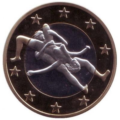 6 эросов (Sex euros). Сувенирный жетон. (Вар. 30)