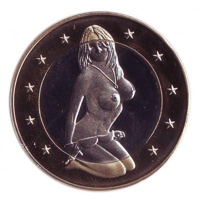 6 эросов (Sex euros). Сувенирный жетон. (Вар. I)