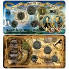 Набор разменных монет 2020 года «200 лет открытия Антарктиды» в буклете с жетоном ММД  (Латунь)