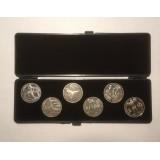 Олимпиада в Барселоне. Набор монет в футляре  номиналом 1 рубль (6 штук), 1991 год