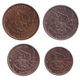 Набор монет. Россия 1993 год. Арктикуголь. (4 шт.) Шпицберген